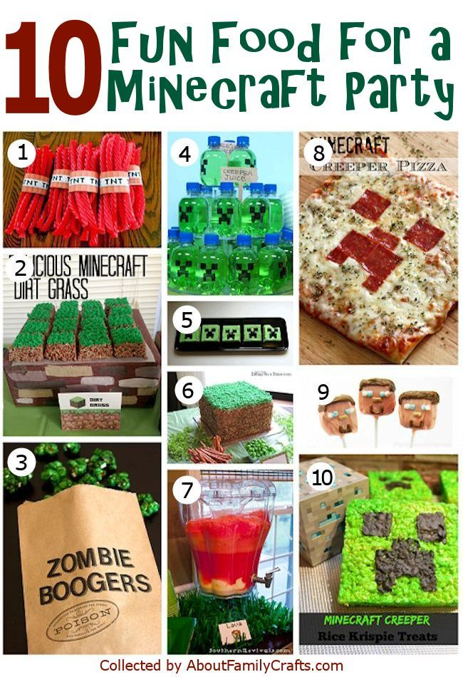 50+ DIY Minecraft Birthday Party Ideas | About Family ...