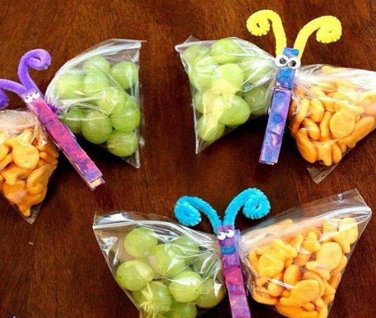 Grape & Goldfish Butterfly Snacks
