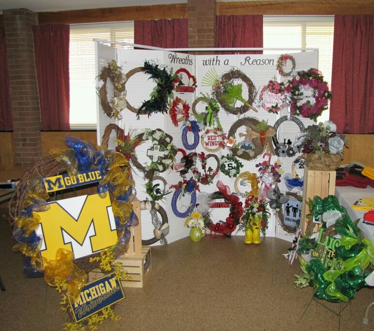 Wreath Display Craft Fair Wreaths With A Reason Set Up At Craft