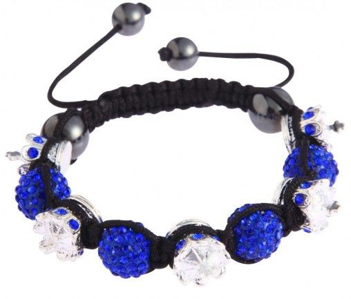 Shamballa náramek LS Fashion LSB0031 modrý - Kliknutím zobrazíte detail obrázku.