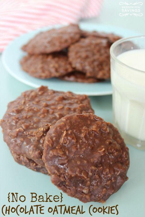 No Bake Chocolate Oatmeal Cookies Recipe!