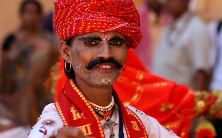 Indian man wearing his festival outfit