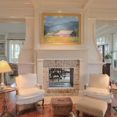 Pawleys Island Posh- stunning see through fireplace and millwork