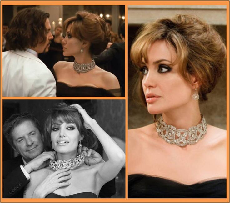 """Hair and makeup!   Robert Procop, bespoke jeweler and Angelina Jolie on the set of """"The Tourist"""" Oh the epic Bauble Voyeur Moments in that film!"""