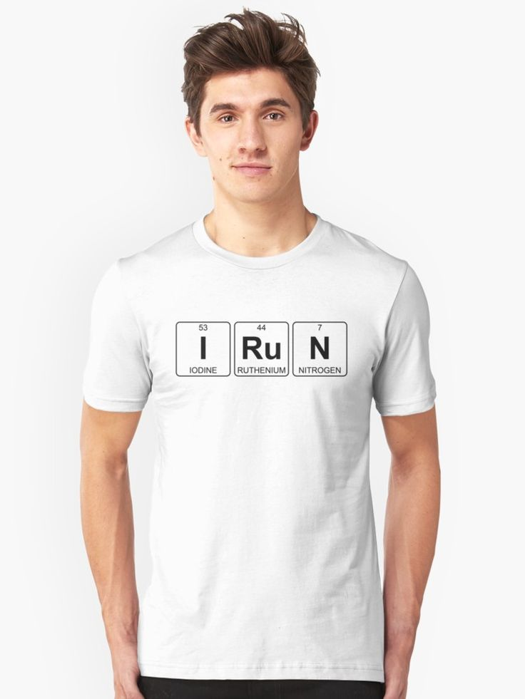 I Ru N - I Run - Periodic Table - Chemistry - Chest by Jenny Zhang • This collection showcases a clever use of symbols of the chemical elements to form a word. • Also buy this artwork on apparel, stickers, home decor, and more.