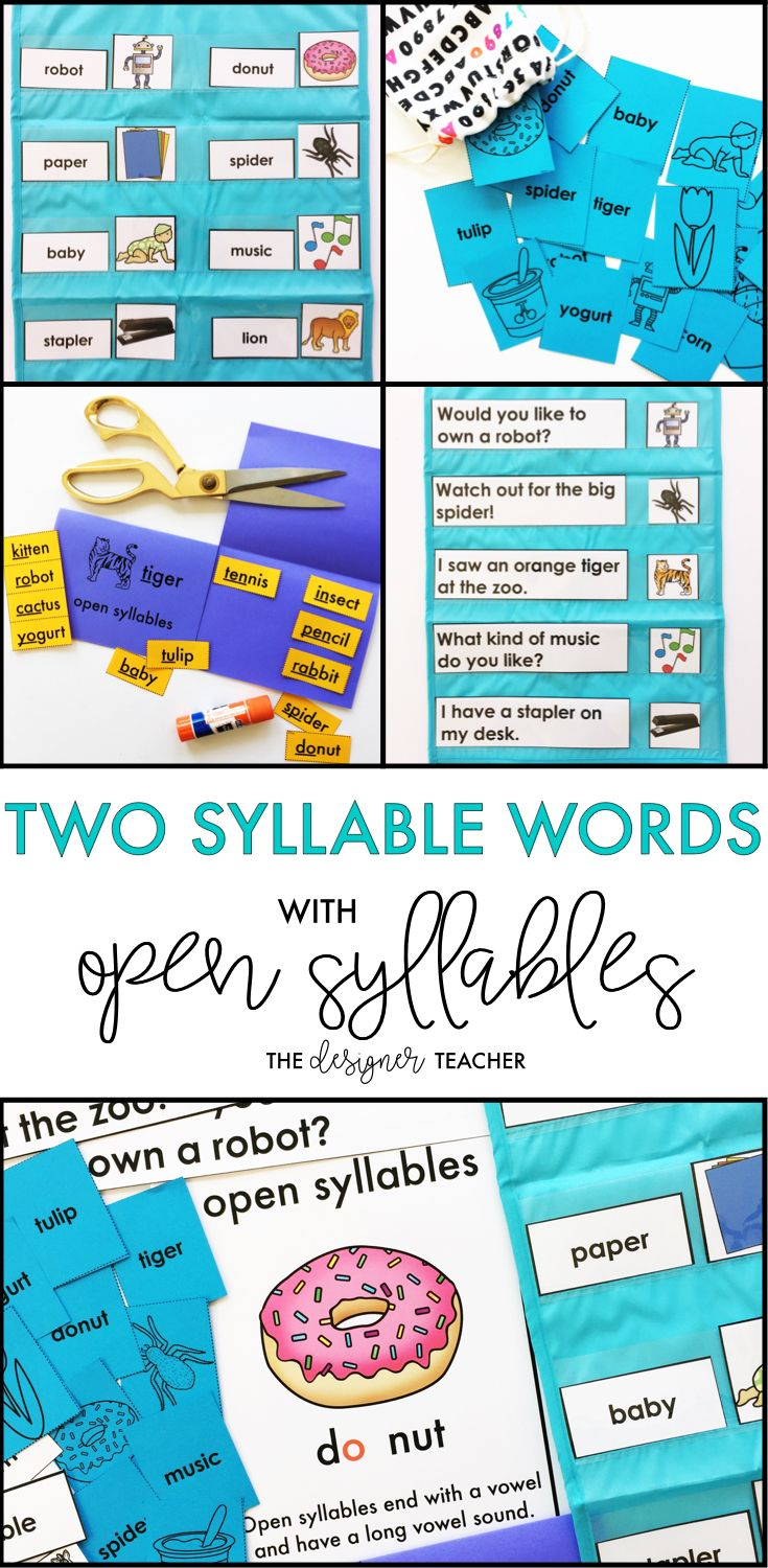 Are you students ready to tackle multisyllable words, but still need explicit phonics instruction and plenty of practice? This weeklong unit will get them recognizing syllable patterns and decoding two syllable words with open syllables with engaging lesson plans, foldables, word work, games, and more. Perfect for small groups, RTI, or special education.