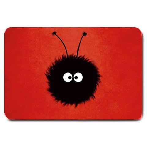 Red Cute Dazzled Bug Large Door Mat