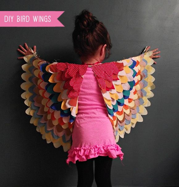 Eri of Llevo el invierno has a diy tutorial/pattern available on her site for these super fun bird wings for kids.