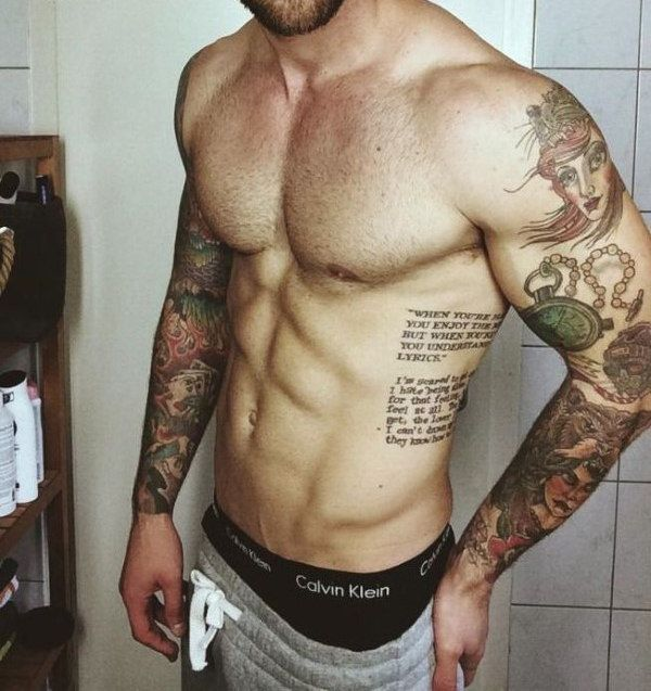 40 Rib Tattoos für Männer – Unglaubliche Side Ink Designs