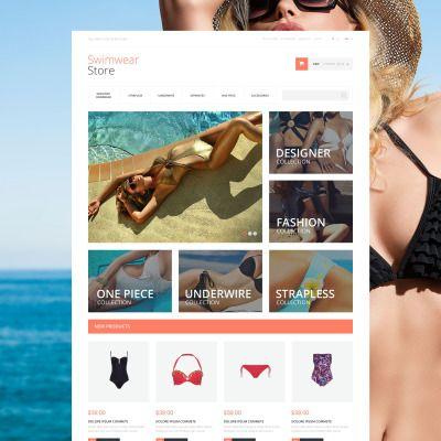 Gorgeous Swimwear Bootstrap Magento Template