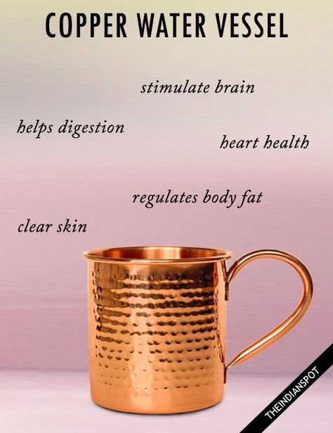 BENEFITS OF DRINKING WATER FROM A COPPER VESSEL