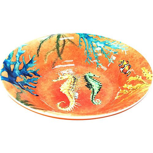 Coastal Home Creature Comfort Orange Bowl