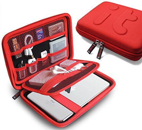 Universal Travel Organizer/ Electronics Accessories Case / iPad Mini, Galaxy Tab Case/ Portable EVA Hard Drive Case / Cable Organiser/power Bank Case/usb Pouch/cable Stable/waterproof Bag (Large)