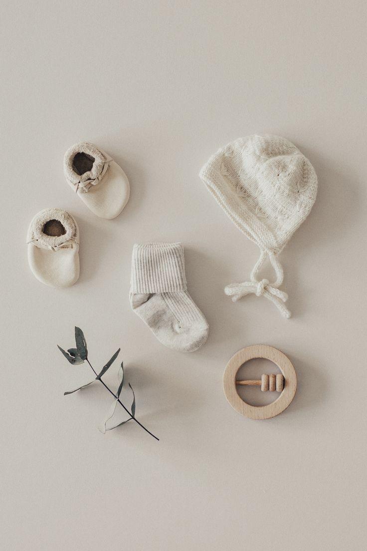 Unisex oatmeal marle rib baby socks