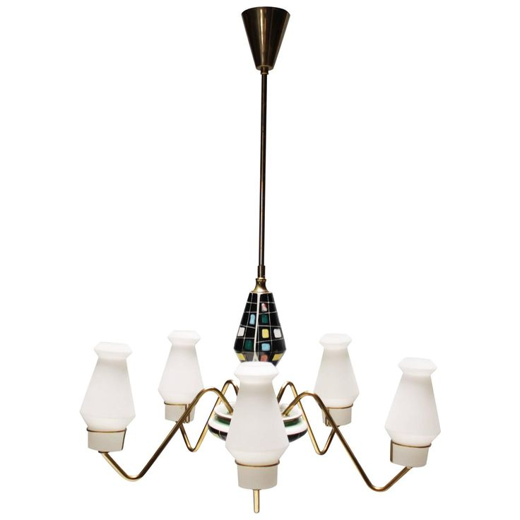 Scandinavian Chandelier by Bergboms, Sweden | From a unique collection of antique and modern chandeliers and pendants at https://www.1stdibs.com/furniture/lighting/chandeliers-pendant-lights/
