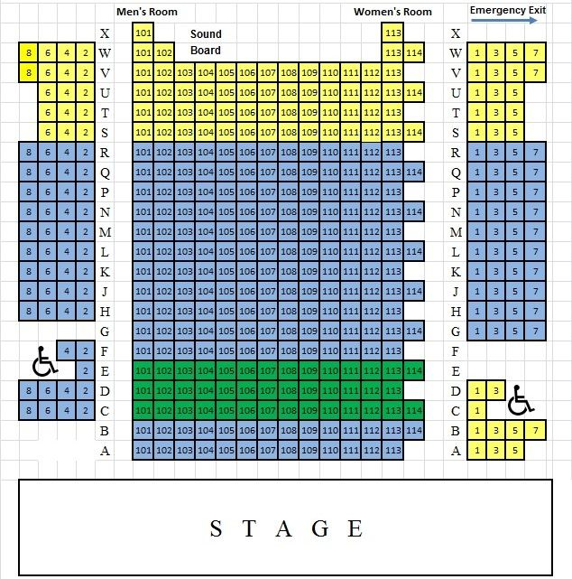 Seating Chart For Bucks County Playhouse Located In New Hope Pa Play Houses Seating Charts Seating