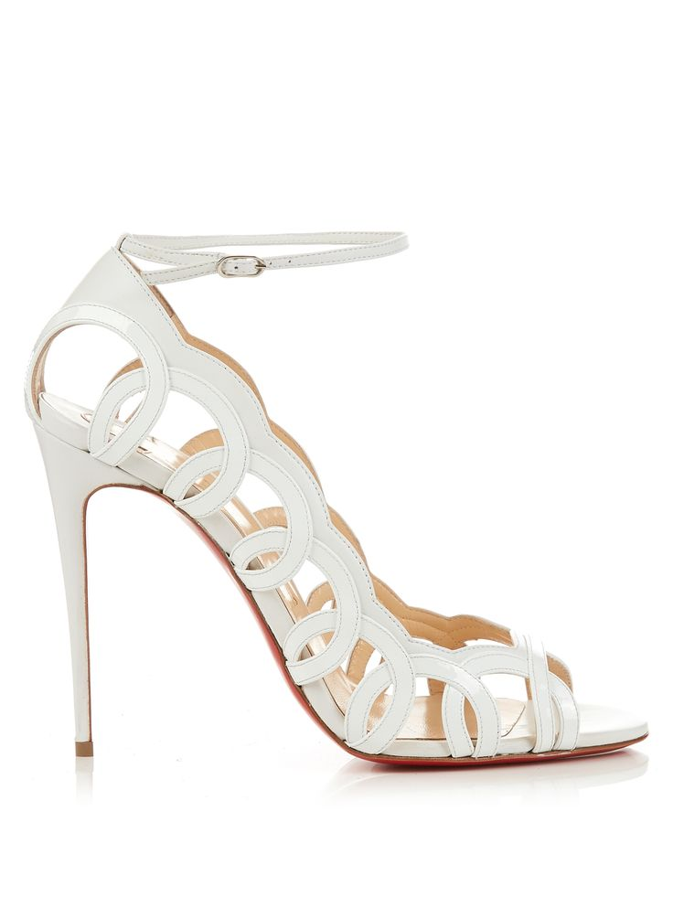 Click here to buy Christian Louboutin Houla Hot 100mm leather sandals at MATCHESFASHION.COM