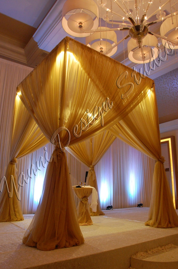 Nigerian wedding stage decoration  Yanni Design Studio  Chicago  Muslim Wedding Decor  muslim