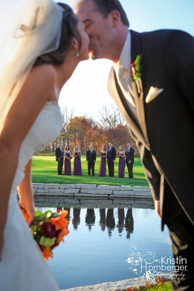 Juliet + Bill:  The Bridgewater Club!  Love pictures on the golf course.  #Indy #Golf #Course #Wedding