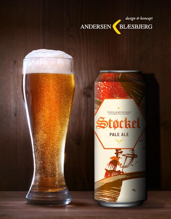 Støckel. A brand new brand of premium beer. Named after a famous Danish adventurer. Designed by Andersen & Blaesbjerg.