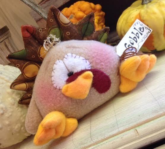 Primitive ThAnKSgiViNG RaGGedY FaLL TuRKeY Doll Shelf Sitter Bowl Filler #Thanksgiving