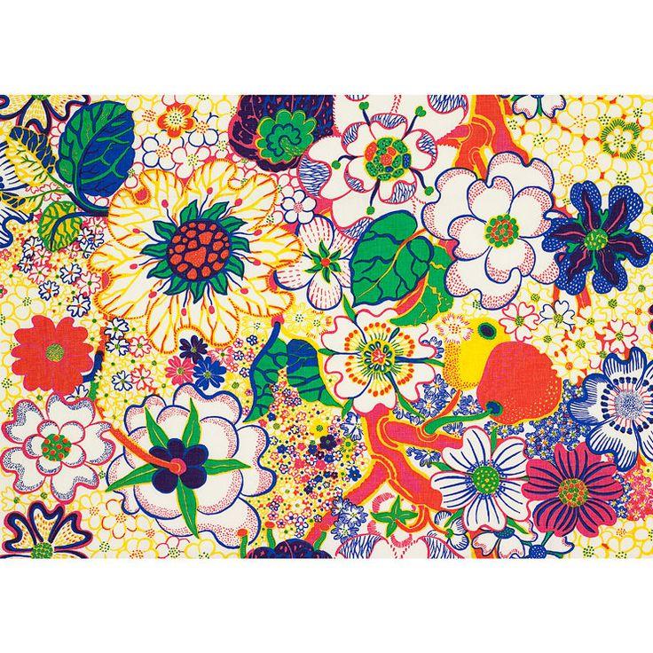 Josef Frank Designer Linen Fabric Nippon  0.5m 315g/m2 by fabeco, 149.00