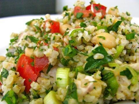 Chicken Tabouli Salad ( I make mine with Quinoa) http://www.letko.info/archives/26.html