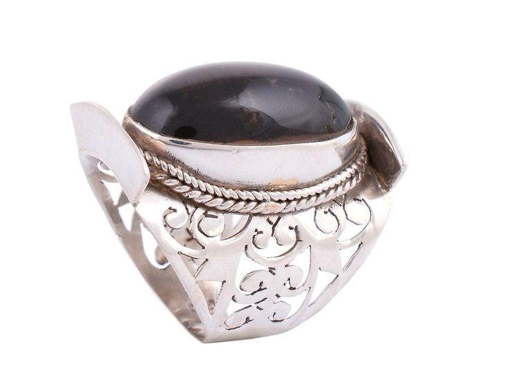 Smoky Quartz Jewellery – Smoky Quartz Ring Silver  – a unique product by IndianCraftPalace on DaWanda