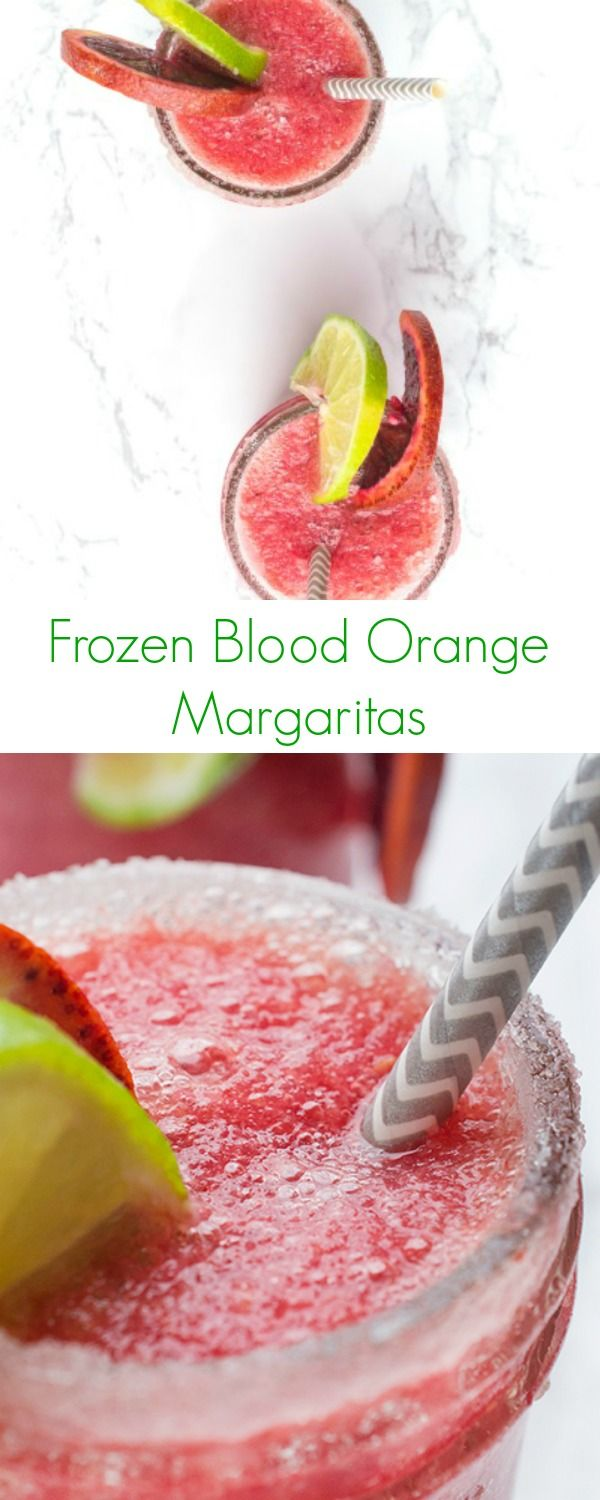 Frozen Blood Orange Margaritas Recipe - The perfect drink to celebrate any event or summer party! - The Lemon Bowl