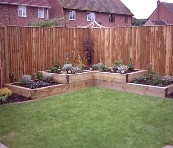 Tiered Raised Garden beds for a corner Rugged Thug