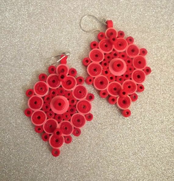 Quilling Papers Earrings: 78+ Images About Jewelry Quilled On Pinterest