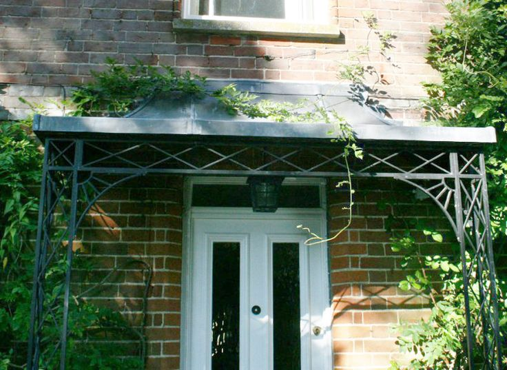 1000+ images about iron door canopy on Pinterest   Porch ...