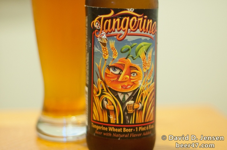 Lost Coast Tangerine. A great Summer wheat beer. Very crisp with good carbonation and strong tangerine flavoring. Those guys up in Humboldt are definitely doing it right. If you like Shock Top, you'll be in heaven with this beer.