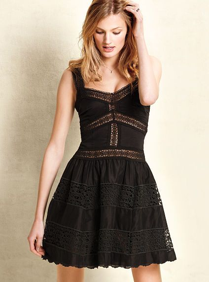 Lace-trimmed Sundress