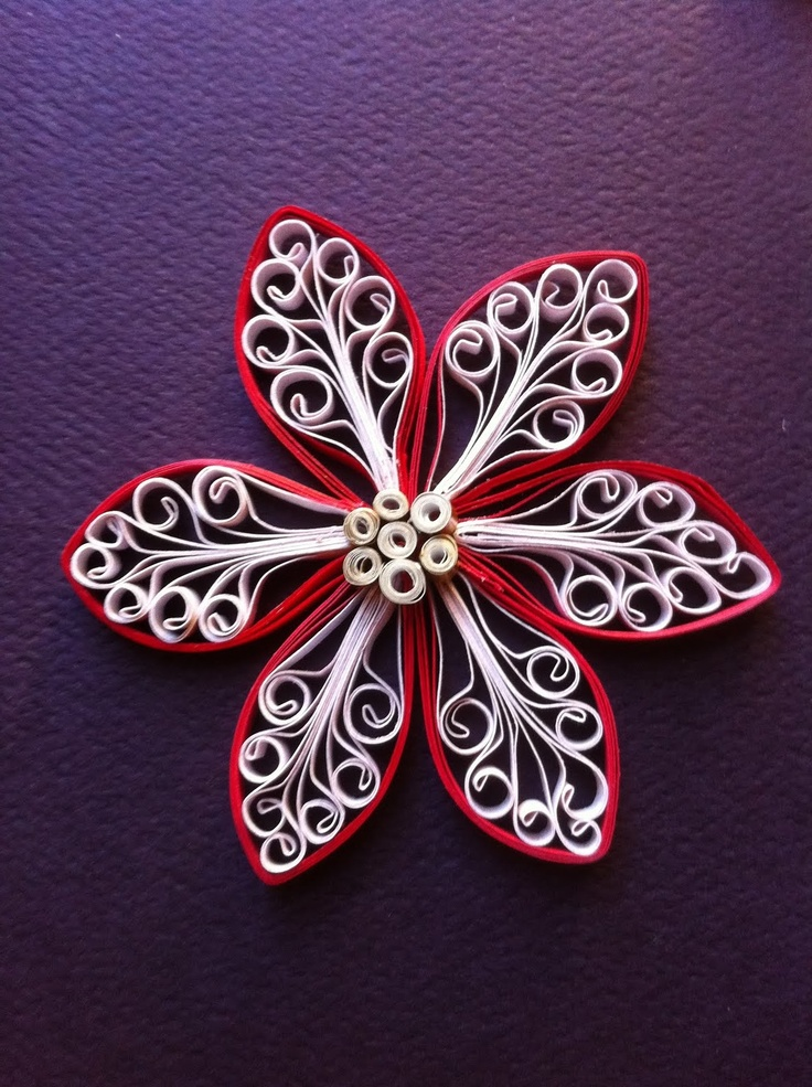 Quilling Snowflakes and Christmas Trees Board: Royal Flower tutorial