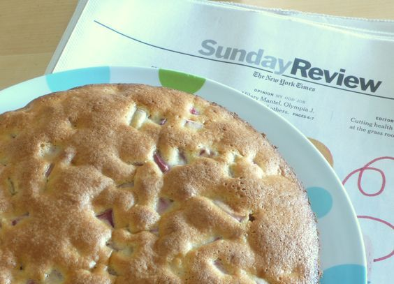 An almost fat free and very delicious rhubarb cake