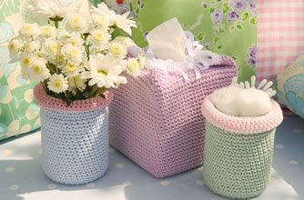 Crochet pattern to make covers for pots