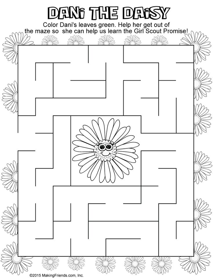 143 best Coloring Pages images on Pinterest Girl scout daisies
