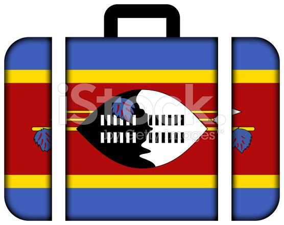 Suitcase with Swaziland Flag royalty-free stock photo