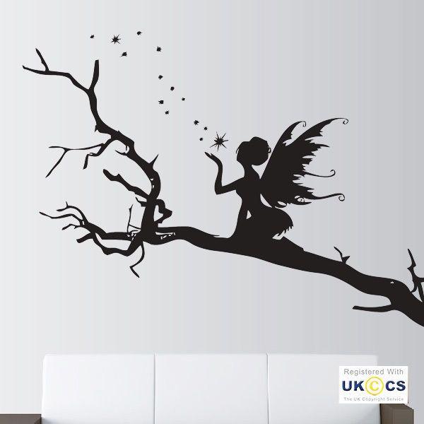 Angel Trees Stars Fairy Fairytale Wall Art Stickers Decals Vinyl Decor Room Home | Casa, jardín y bricolaje, Decoración para el hogar, Pegatinas, plantillas de pared | eBay!