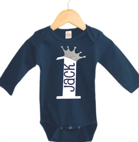 Boys First Birthday Outfit 1st Personalized Gift Prince OutfitRaglan