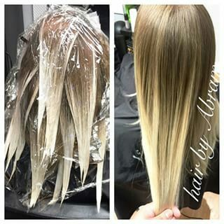17 best images about balayage on pinterest reverse for Balayage tie and dye maison