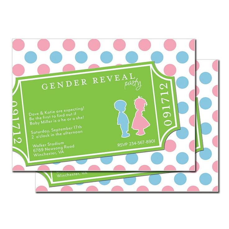 Love, love, love!!  Gender Reveal Ticket Invitation Admit One Printable. $15.00, via Etsy.Invitations Admit, Reveal Ticket, 1500, Admit One, Ticket Invitations, Reveal Parties, Gender Reveal, 15 00, Diapers Parties