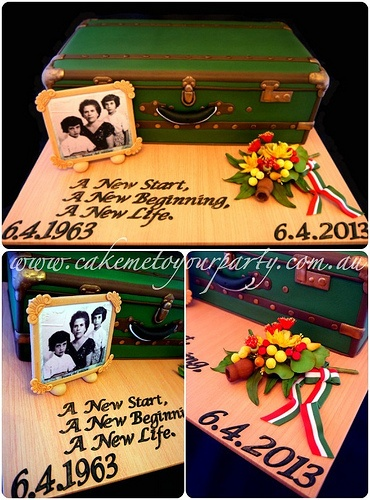 Suitcase Cake Pictures