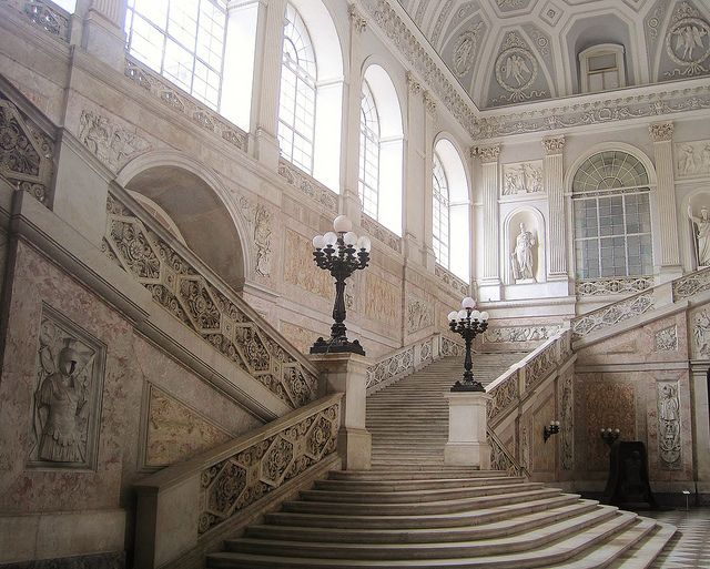 Tumblr - staircase at the Royal Palace of Naples | All ...