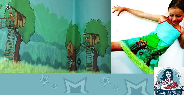 Stoff Tiermotive - Rapport Jersey *BaumHaus*  Finch Design - ein Designerstück von Nordlicht-Stoffe bei DaWanda