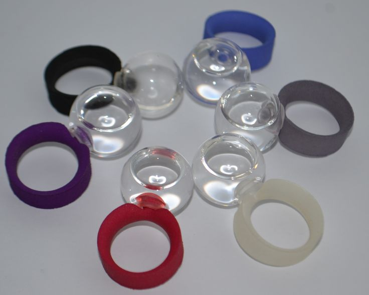 Ring Water Remedies in nylon and glass ball with rechargeable water. www.scicche.it