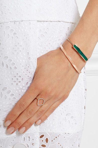 Monica Vinader | Bague en plaqué or rose et diamants Riva | NET-A-PORTER.COM