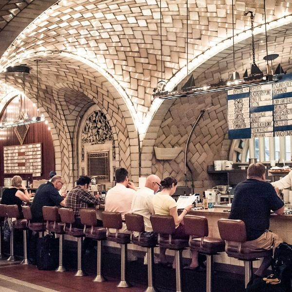 The Grand Central Oyster Bar celebrates its 100th anniversary this year as a New York institution. Located in the lower concourse of Grand Central, it serves over 25 varieties of oysters daily. There is a huge menu of American seafood—chowder, fried clams, lobster rolls, clams casino—whatever you...