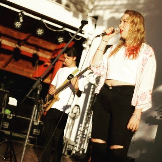 ReKarpaty na naszej scenie :) juz niebawem wysapia na @jarmarockfest #karpaty #singing #festival #lemko #blonde #singer #vatrazdynia #watra #zdynia